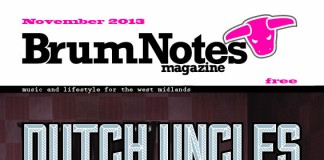 The cover of Brum Notes Magazine, November 2013 edition