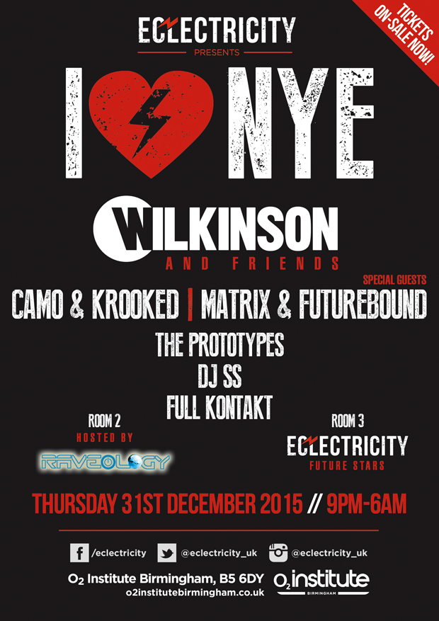 I Love NYE at the O2 Institute Birmingham