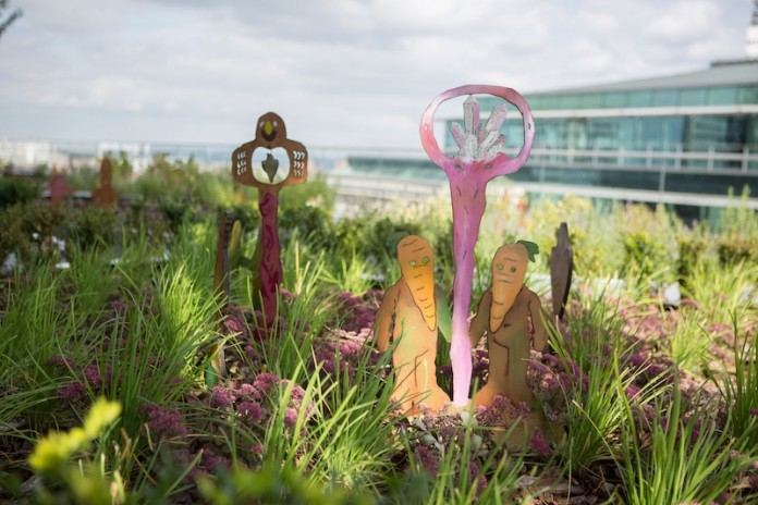 The vegetable garden at the Library of Birmingham - photo by Lee Allen