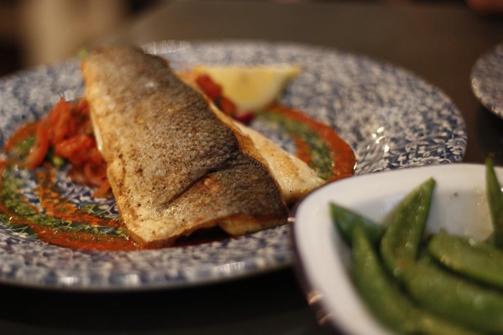 Seabass with pico de gallo