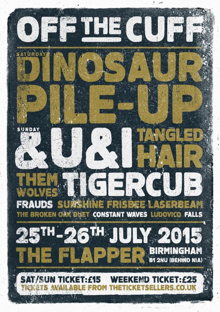 Off the Cuff Festival 2015 poster