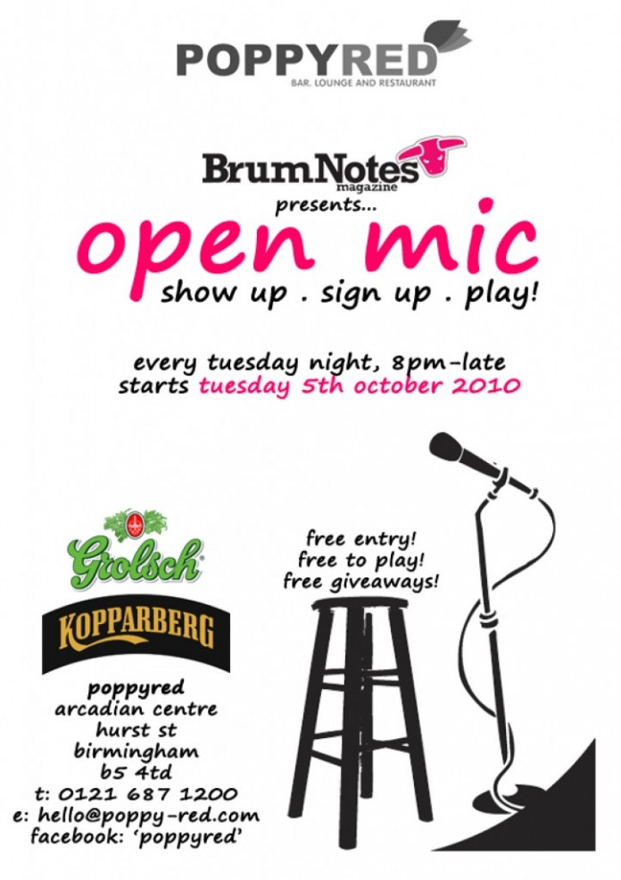 new open mic night launched in birmingham brum notes