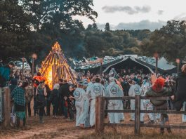 Lunar Festival procession on Sunday 29 July 2018. Image: Rob Hadley