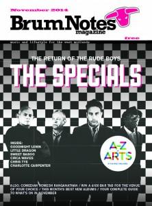 Brum Notes Magazine cover November 2014 - The Specials