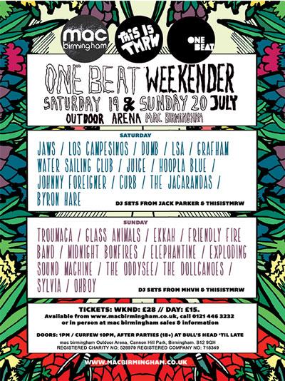 One Beat Weekender 2014 - poster